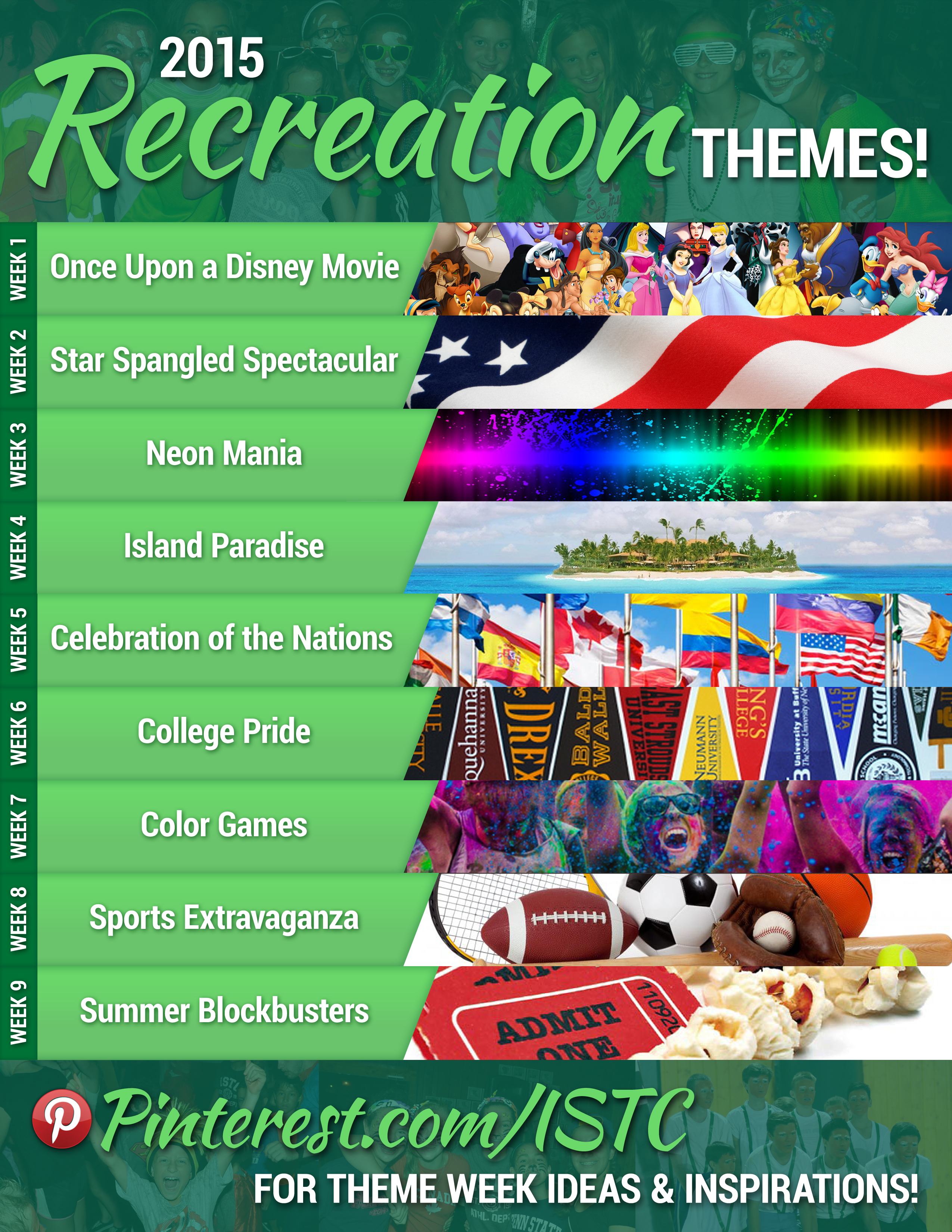 2015 rec themes international sports training camp comment and let us know which weeks youre most excited for dont forget we also have our daily mini theme days which include monochrome monday publicscrutiny Image collections