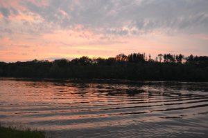sunset around trout lake