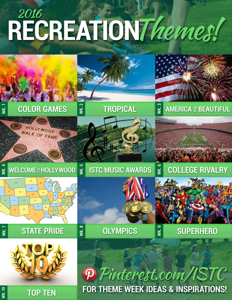 summer 2016 recreation themes international sports